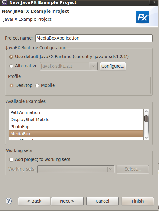 Running JavaFX SDK examples with Eclipse – Max Katz