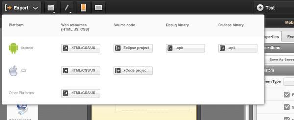 Tiggr Mobile Apps Builder - Export/Build