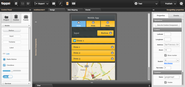 html5 jquery mobile visual builder max katz - Android Ui Maker