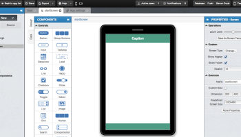 creating jquery mobile app in appery io using page templates max