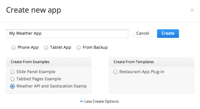 Sample Mobile App With Weather Underground API and Geolocation