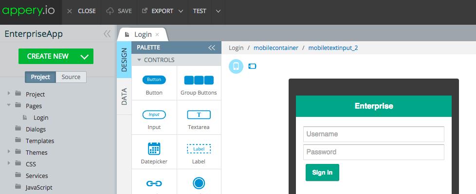 Rapid Enterprise Mobile Development with Appery io Platform