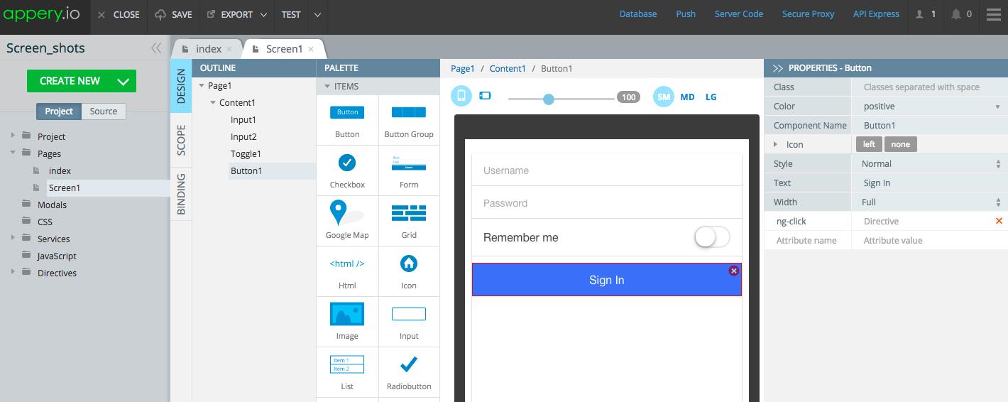 Using Ionic/AngularJS for Rapid Mobile App Development in