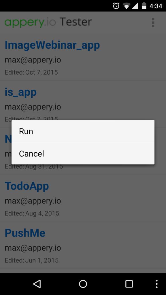 Launching an app