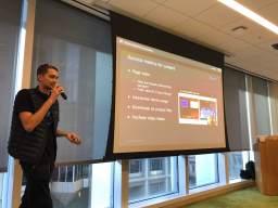 Jordan is sharing contet strategy and metrics