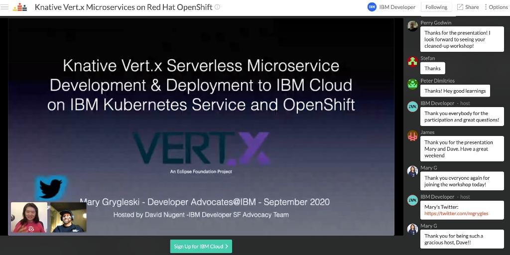 IBM Developer Crowdcast event