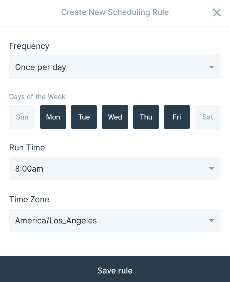 Scheduling a Parabola flow
